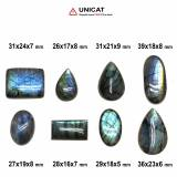 Cabochon Labradorit 26-39 x 16-24 x 5-9 mm - Unicat